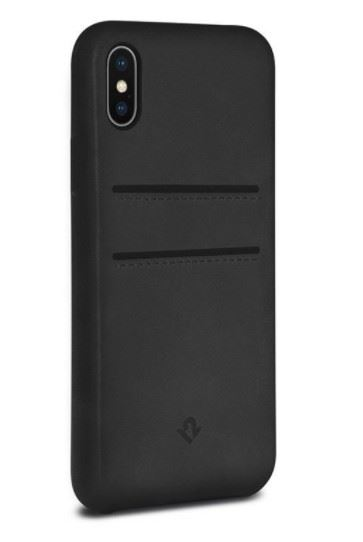 Twelve South Relaxed læder cover til iPhone XS / X bagside cover i sort læder med kreditkortholder