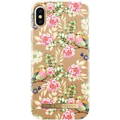 IDeal of Sweden fashion case bagside cover til iPhone XS / X i Champagne birds