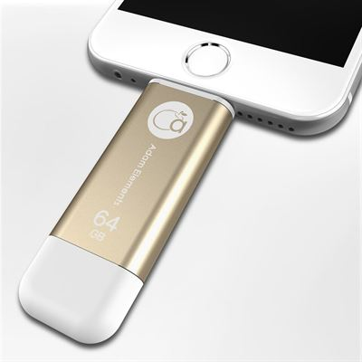 Adam Elements iKlips lightning Flash drive 64GB - guld