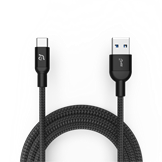 Adam Elements USB-C til USB opladningskabel i sort på 1 meter