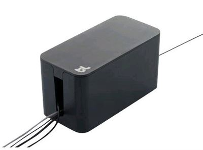 Bluelounge Cablebox i sort - Original Bluelounge kabel skjuler - flamme hæmmende matriale