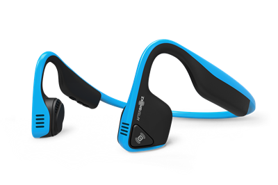 Aftershokz Trekz Titanium - Bone conduction høretelefoner i blå