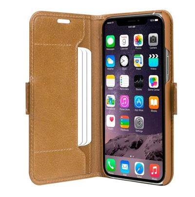 dbramante1928 Copenhagen Slim cover til iPhone 11 Pro Max i brun læder ( Golden tan )