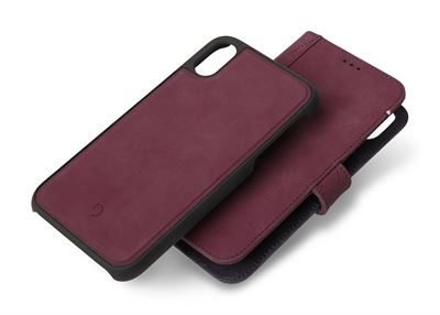 Decoded 2 i 1 cover til iPhone Xs Max i bordeaux