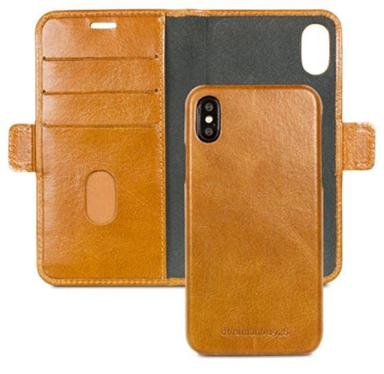 dbramante1928 Lynge cover til iPhone XS X i brun læder ( Golden tan )