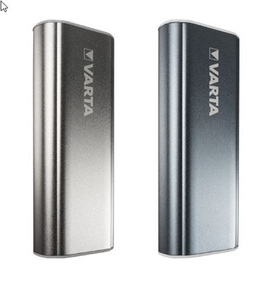 Varta power bank i smart design 5.200 mAh - mørkegrå