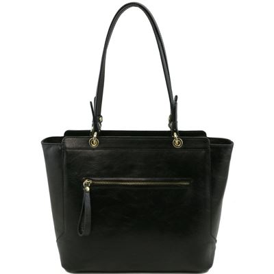 Tuscany Leather NeoClassic - Læder tote with two handles i farven sort
