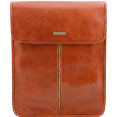Tuscany Leather Eksklusiv læder shirt case i farven lyse brun