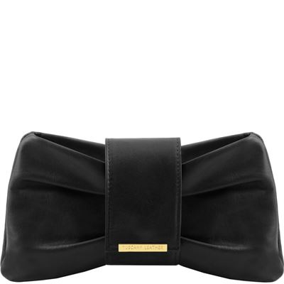 Tuscany Leather Priscilla - Clutch læder håndtaske i farven sort