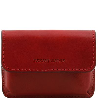 Tuscany Leather Eksklusiv læder business cards holder i farven rød
