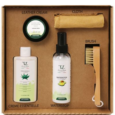 Tuscany Leather Læder care products complete set i farven Colourless