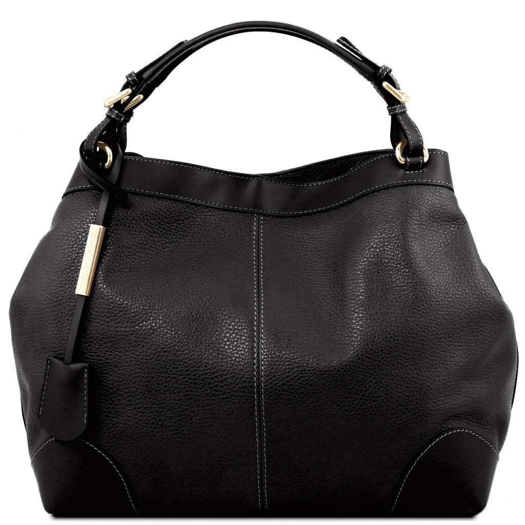 sort taske med skulderrem
