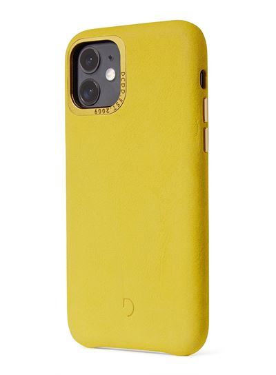 Decoded læder cover til iPhone 11 bagside cover i gul læder (Yellow)