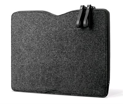 "Mujjo 13"" læder Macbook Folio sleeve til MacBook i sort og filt"