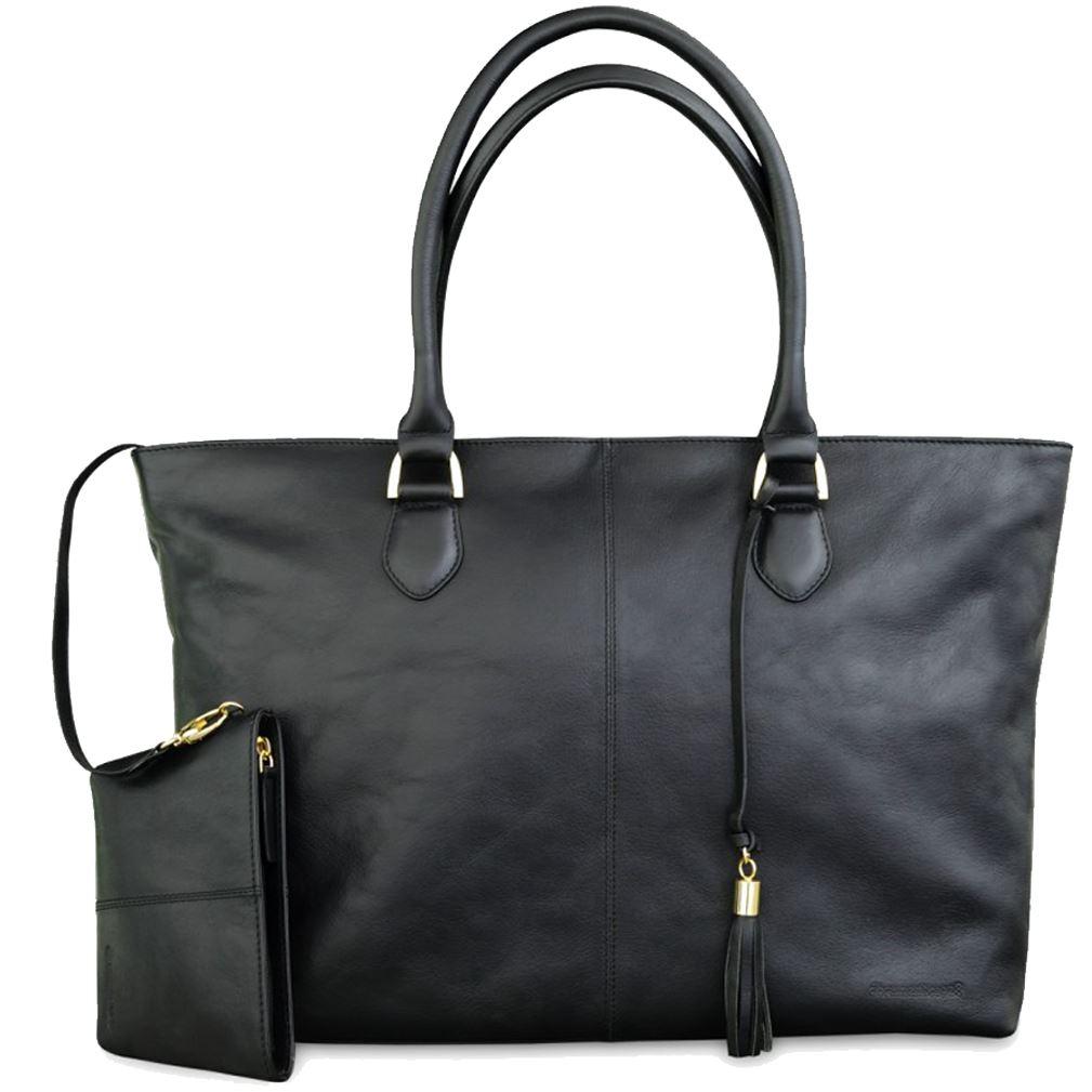 3a8f07874b2 dbramante1928 Sophie Amalienborg dame læder taske i sort skin. Op til 15
