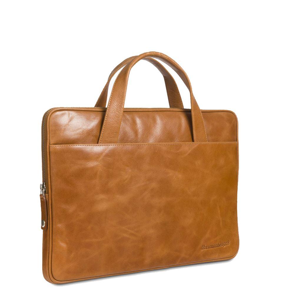 computertaske brun læder