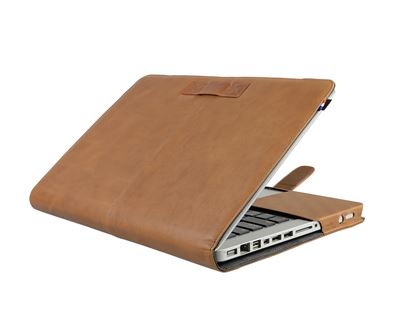 "Cover til MacBook Pro 13"" i brun kalve læder - originalt Decoded cover"