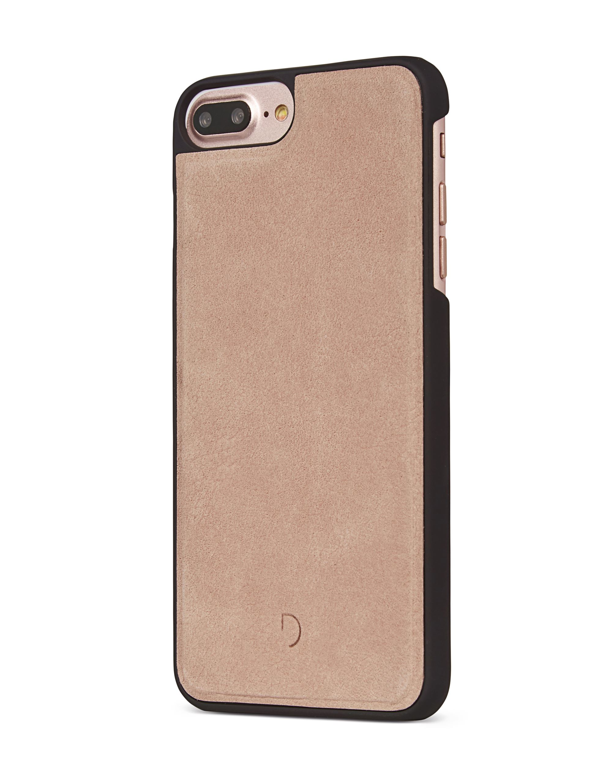 iPhone 7 plus læder cover i rose med kortholder