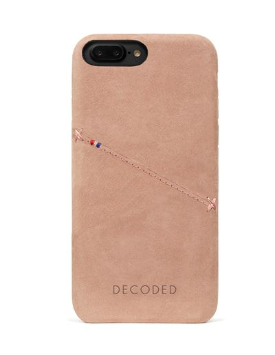 Decoded cover til iPhone 8/7 Plus bagside cover i rose læder med kreditkortholder