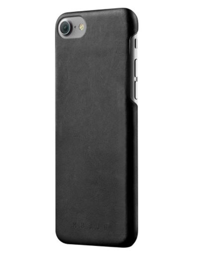 Mujjo cover til iPhone 8 & 7 & 6/6S - bagside cover i sort læder