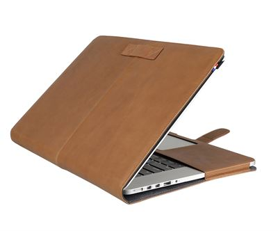 "Cover til MacBook Pro 13"" Retina i brun kalve læder - originalt Decoded cover"