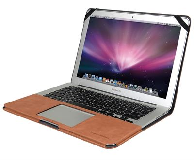 "Cover til MacBook Air 11"" i brun læder - originalt Decoded cover"