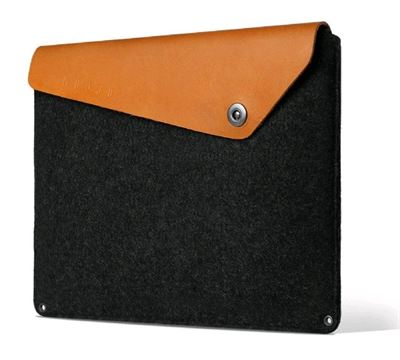 "Mujjo  Macbook 13"" Premium sleeve i Sort/Brun"