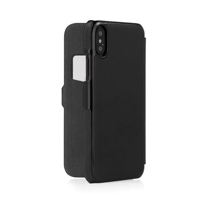 Pipetto Slim Wallet Classic til iPhone XR i sort