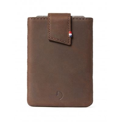 Decoded læder pung - pull wallet classic i brun