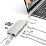 Satechi USB-C 3.1 Multi-Port Adapter 4K Gigabit Ethernet i silver
